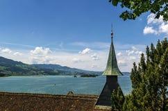 Zurich sjö, Schweiz Royaltyfria Bilder