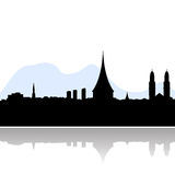 Zurich skyline vector silhouette Stock Photography