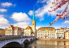 Zurich at spring Stock Photography