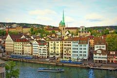 Zurich stad Schweiz Arkivfoton
