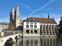 Zurich stadssikt Arkivfoton