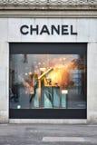 ZURICH, SUISSE - 29 décembre 2013 - Chanel, une haute couture Image stock