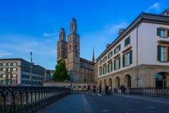 ZURICH, SUISSE - 22 MAI : Centre de la ville historique de Zurich avec image libre de droits
