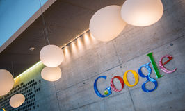 ZURICH, SUIZA, Google Corporation Recept Imágenes de archivo libres de regalías