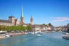 Zurich in summer stock photography