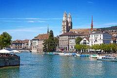 Zurich in summer Royalty Free Stock Photography