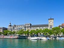 Zurich in summer royalty free stock photo