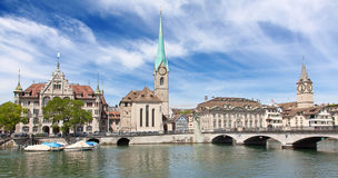 Zurich in summer Stock Photos