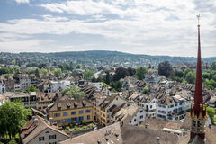 Zurich Switzerland Cathedral Stock Photography