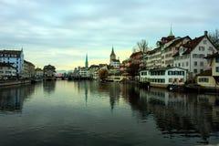 Zurich, Switzerland. Zurich city in the morning, Switzerland royalty free stock photography