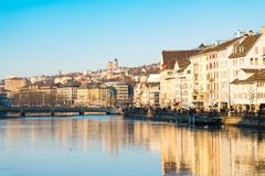 Zurich, Switzerland - December 31, 2016 : Zurich city in a beaut Royalty Free Stock Photography