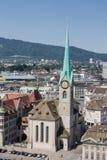 Zurich Switzerland Fraumunster Church Royalty Free Stock Images