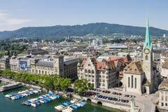 Zurich Switzerland Fraumunster Church Royalty Free Stock Photos