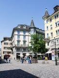 Zurich Switzerland Historical Building. The historical buildings on a corner of downtown Zurich, Switzerland Stock Photo