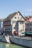 Zurich Switzerland Limmat River Royalty Free Stock Images