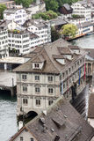 Zurich Switzerland Limmat River Stock Photography