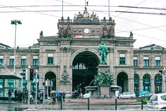 Zurich, Switzerland, March 2017: Zurich Central Station is the largest railway station in Switzerland royalty free stock images