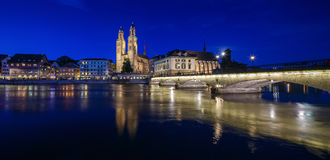 ZURICH, SWITZERLAND - MAY 22 : Panoramic view of historic Zurich Stock Photography