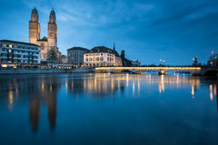 Zurich, Switzerland - nightview Stock Photo