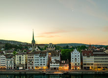 Zurich (Switzerland), old town and Limmat river Stock Photography