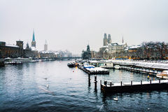 Zurich, Switzerland old town, situated on the Limmat river Stock Photography