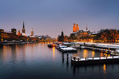 Zurich, Switzerland old town, situated on the Limmat river Royalty Free Stock Photos