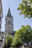 Zurich Switzerland St Peter Church Royalty Free Stock Photography