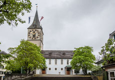 Zurich Switzerland St Peter Church Stock Photo