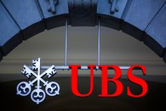 UBS, Switzerland`s largest bank. ZURICH, SWITZERLAND UBS, Switzerland`s largest bank stock images
