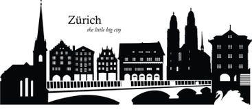 Zurich, Switzerland. Vector illustration of the skyline cityscape of Zurich, Switzerland Royalty Free Stock Photography