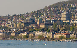 Zurich, Switzerland: View from the lake Stock Image
