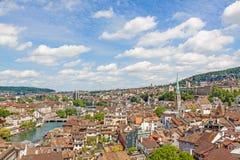 Zurich, Switzerland - view over inner city royalty free stock photos