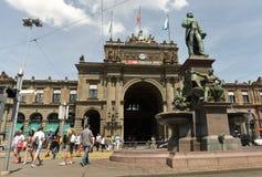 Zurich Szwajcaria, Czerwiec, - 03, 2017: Fasada Zurich magistrala Zdjęcia Royalty Free