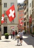 Zurich Szwajcaria, Czerwiec, - 03, 2017: Ludzie na ulicie Zur Zdjęcie Royalty Free