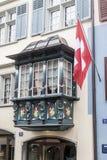 Zurich Szwajcaria Dziejowy budynek Fotografia Stock