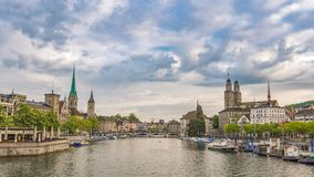 Zurich Time Lapse stock footage