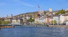 Zurich, view on the Central Square across the Limmat river Stock Image