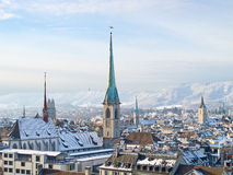 Zurich in winter Stock Photo