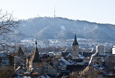 Zurich in winter Stock Photos
