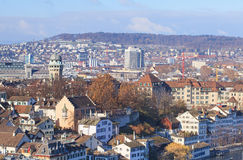 Zurich, winter cityscape Royalty Free Stock Images