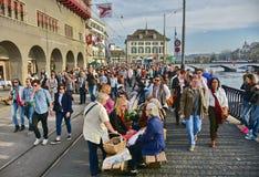 Zurich wiosny wakacyjna parada Zdjęcia Royalty Free
