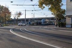 15/08/2018 Zurich, Zwitzerland widok Ro i dworzec obraz stock