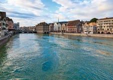 Zurigo ciy in Svizzera Fotografie Stock