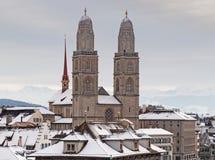 Zurigo nell'orario invernale Fotografie Stock Libere da Diritti