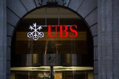 ZURIGO, SVIZZERA UBS, ` s più grande b della Svizzera fotografia stock libera da diritti