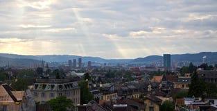 Zurique, arquitetura da cidade de Suíça Imagem de Stock Royalty Free