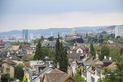 Zurique, arquitetura da cidade de Suíça Imagens de Stock Royalty Free