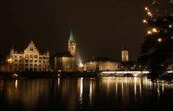 Zurique da baixa, Switzerland Fotos de Stock