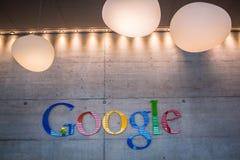 ZURIQUE, SUÍÇA, Google Corporaçõ Recept Imagens de Stock