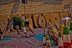 Zurkhaneh antyczna irańska tradycja obraz stock